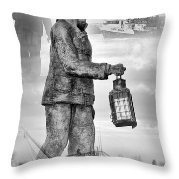 Fishermen - Jersey Shore Throw Pillow