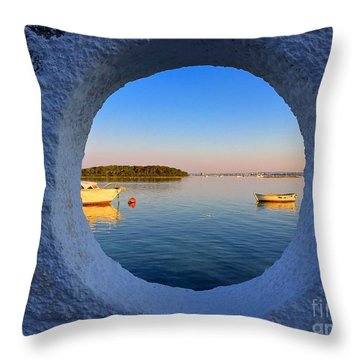 Fishermen Village- Italy Throw Pillow