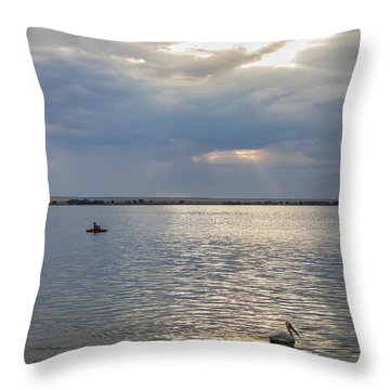 Throw Pillow featuring the photograph Fishermens Morning by James BO Insogna