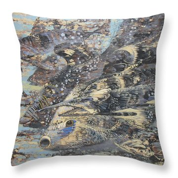 Fishes. Monotype Throw Pillow