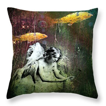 Fishes Wings Throw Pillow