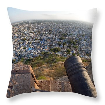 Throw Pillow featuring the photograph Fisheye View Of Jodhpur by Yew Kwang