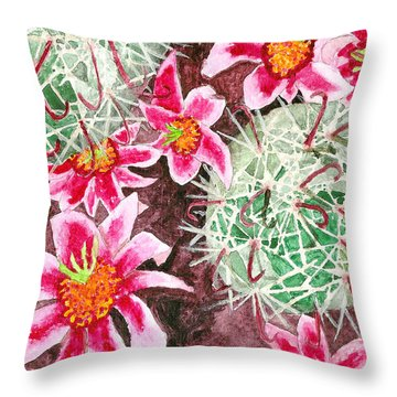 Fishhook Beauty Throw Pillow