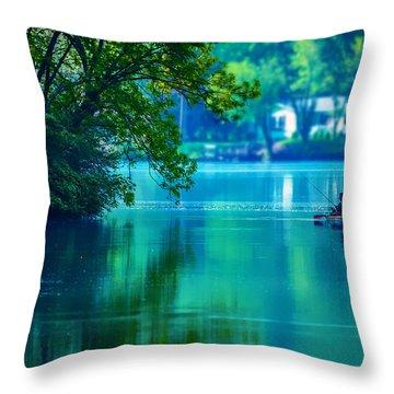 Fishin' Blues 2 Throw Pillow