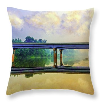 Fishin' For Angels Throw Pillow