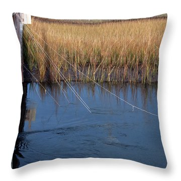 Fishin' Lines Throw Pillow