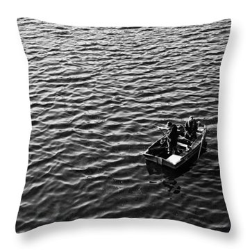 Throw Pillow featuring the photograph Fishing by Adrian Pym