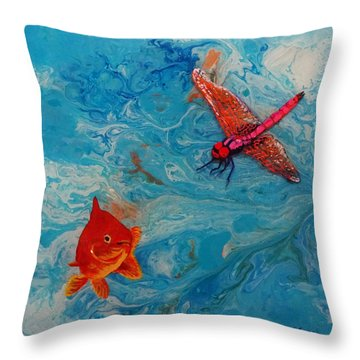 Fishing Around Throw Pillow