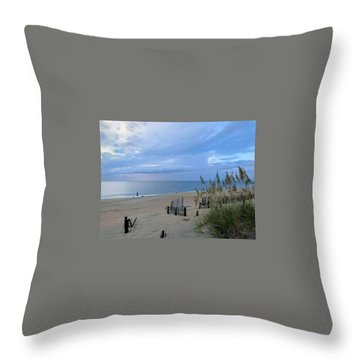 Throw Pillow featuring the photograph Fishing At Fish Heads 8/19 by Barbara Ann Bell