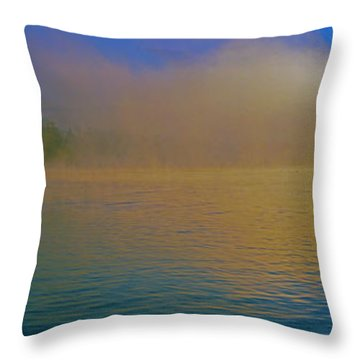 Fishing Boat Day Break  Throw Pillow
