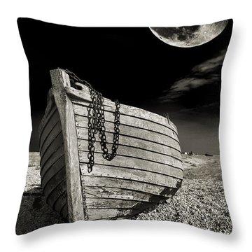 Fishing Boat Graveyard 3 Throw Pillow by Meirion Matthias