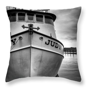 Fishing Boat Judy Throw Pillow