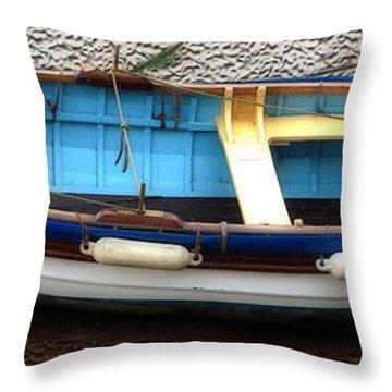 Fishing Boat Throw Pillow by Svetlana Sewell