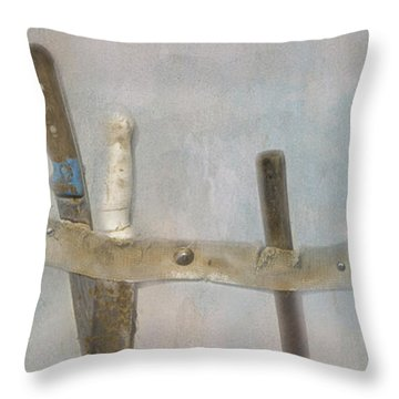 Throw Pillow featuring the photograph Fishing Boat Tools by Tom Singleton
