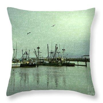 Fishing Boats Columbia River Throw Pillow