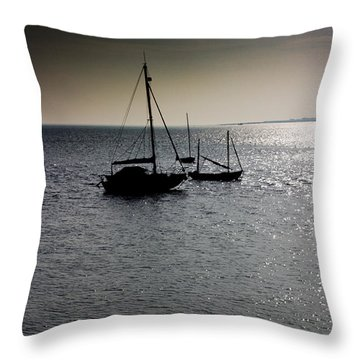 Fishing Boats Essex Throw Pillow