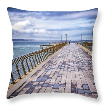 Throw Pillow featuring the photograph Fishing Day by Perry Webster