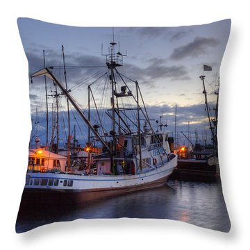 Fishing Fleet Throw Pillow by Randy Hall