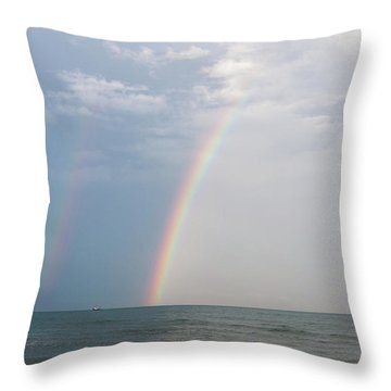 Fishing For A Pot Of Gold Throw Pillow