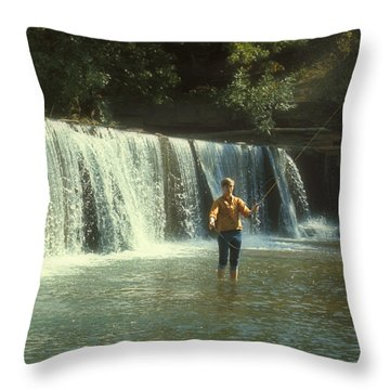Fishing For Smallies Throw Pillow