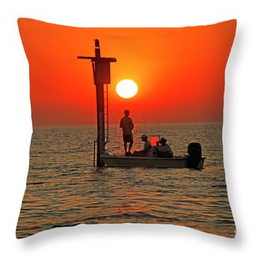 Fishing In Lacombe Louisiana Throw Pillow
