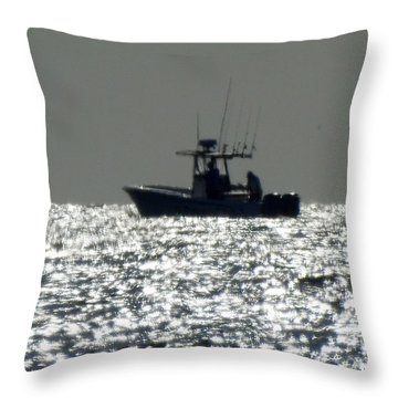 Fishing In Sanibel Throw Pillow