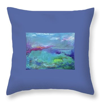 Fishing In Sorrento Throw Pillow