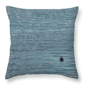 Throw Pillow featuring the photograph Fishing In The Ocean Off Palos Verdes by Joe Bonita