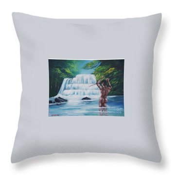 Fishing In The River Throw Pillow