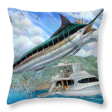 Fishing In The Vintage Throw Pillow