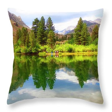 Fishing Intake 2 Throw Pillow