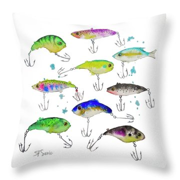 Fishing Is Fly No3 Throw Pillow