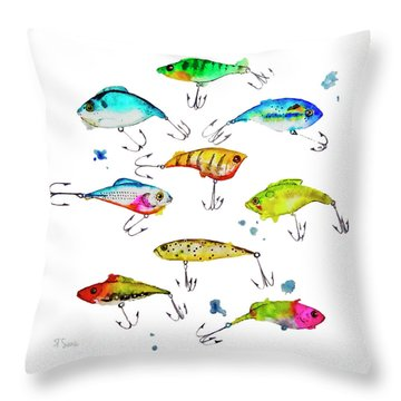 Fishing Is Fly No4 Throw Pillow