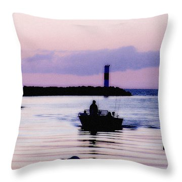 Fishing Lake Ontario  Lake Ontario  Throw Pillow