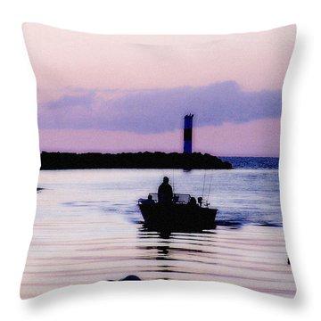 Fishing Lake Ontario  Lake Ontario  Throw Pillow
