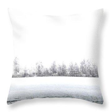 Fishing Limekiln Throw Pillow by David Patterson