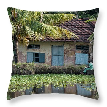 Fishing Throw Pillow by Marion Galt