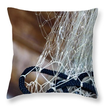 Fishing Net Details - Rovinj, Croatia Throw Pillow