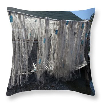 Throw Pillow featuring the photograph Fishing Net by Fran Riley
