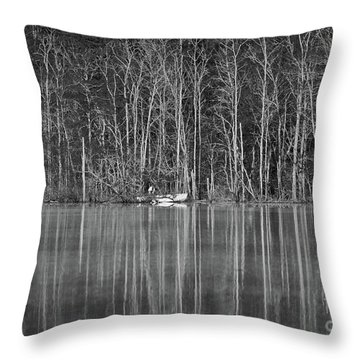 Throw Pillow featuring the photograph Fishing Norris Lake by Douglas Stucky