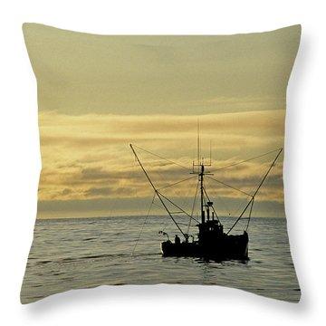 Fishing Off Santa Cruz Throw Pillow