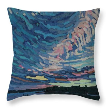 Fishing Sunset Throw Pillow