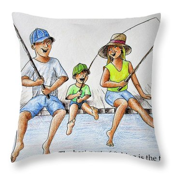 Fishing Tale Throw Pillow