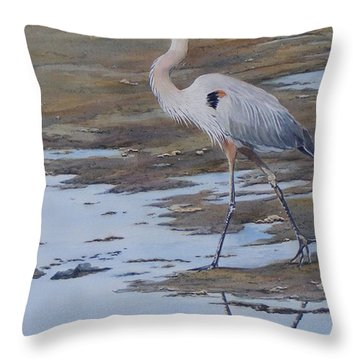 Fishing The Mud Flats...sold  Throw Pillow