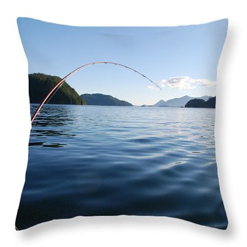 Fishing Tlupana Inlet Throw Pillow