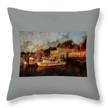 Throw Pillow featuring the photograph Fishing Trips Daily by Thom Zehrfeld