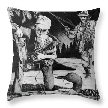 Fishing Vacation Throw Pillow