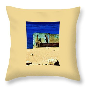 Throw Pillow featuring the photograph Fishing by Vanessa Palomino