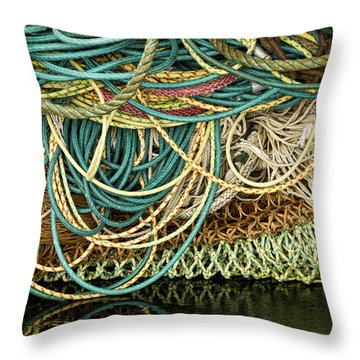 Fishnets And Ropes Throw Pillow