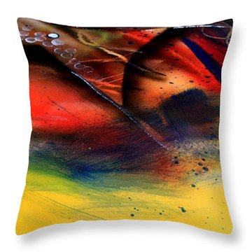 Fishtail Abstract Throw Pillow